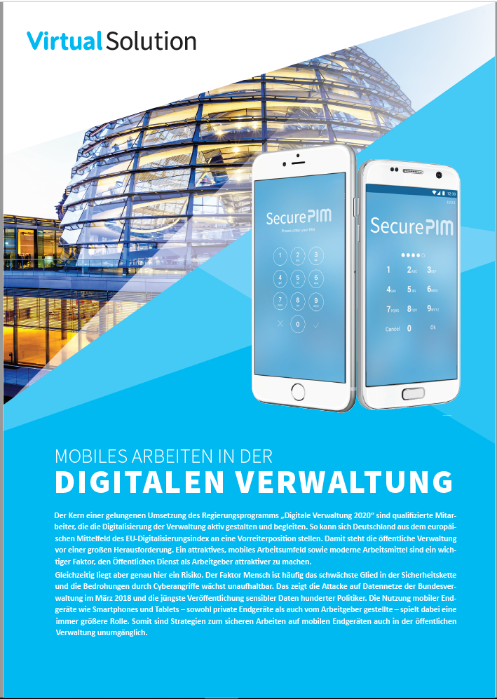 Mobiles Arbeiten in der Digitalen Verwaltung