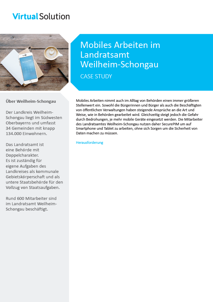 Titel Case Study Landratsamt Weilheim Virtual Solution