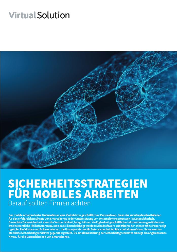 Sicherheitsstrategien mobiles Arbeiten