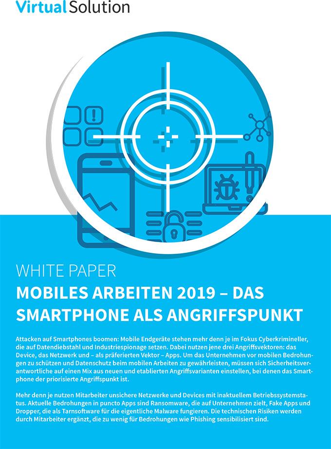 Titelblatt Mobiles Arbeiten 2019 Whitepaper