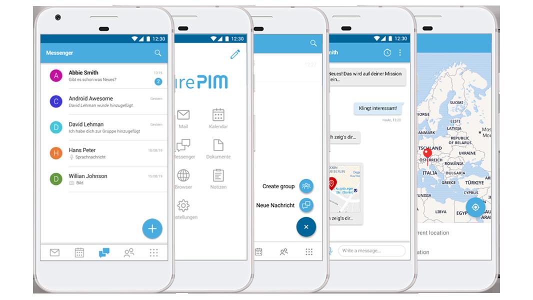 Alle Funktionalitäten in einer Applikation mit SecurePIM