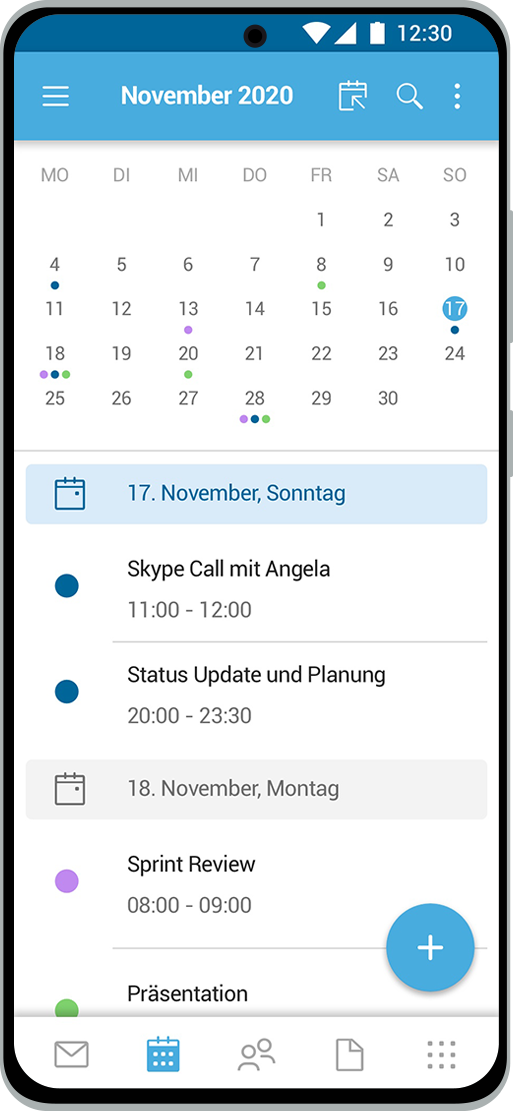 SecurePIM calendar