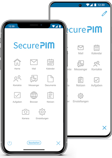 SecurePIM for iOS and Android