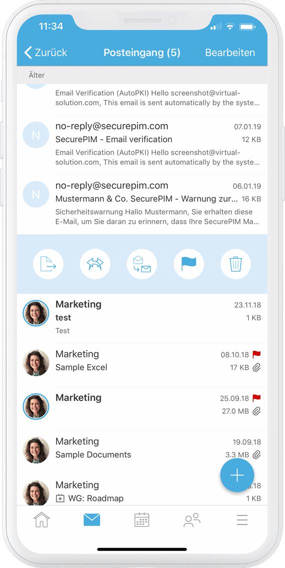 SecurePIM Email