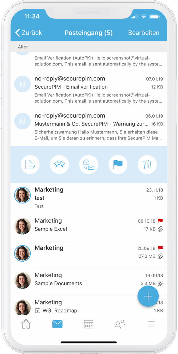 SecurePIM E-Mail