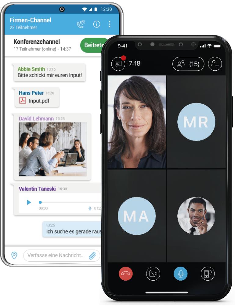 SecureCOM für iOS und Android