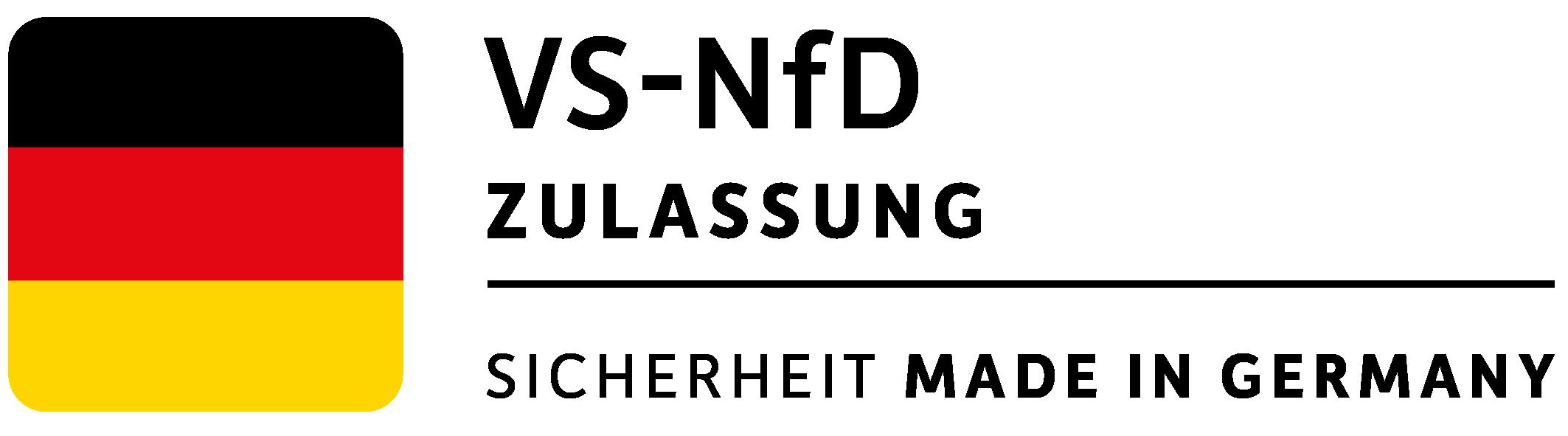 VS-NfD Zulassung